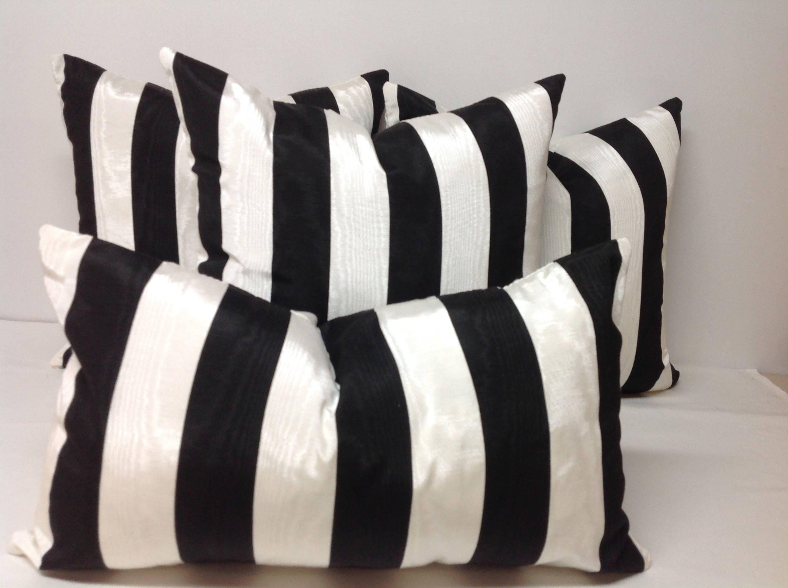 Decorative Pillow Pillow Cover Throw Pillow Black And White Pillow Striped Pillow Bedding Sofa Pillow Farmhouse Kidney Lumbar Pillow