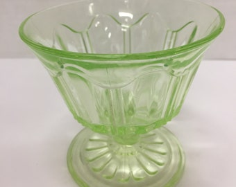 Colonial Green - Anchor Hocking - 1934-1936 Tall Sherbet - Champagne
