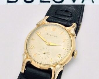 873ffc1e4 Antique 1960 Bulova NO 10BM 17 jewel Swiss mechanical mens wristwatch  vintage fashion