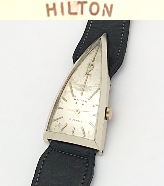 Vintage 1950s Pascal Hilton Triangle Men's Mechani