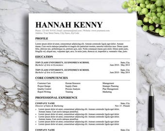 Professional Resume Template for Ms Word | Simple Resume Design | Professional Cv Template | Instant Download