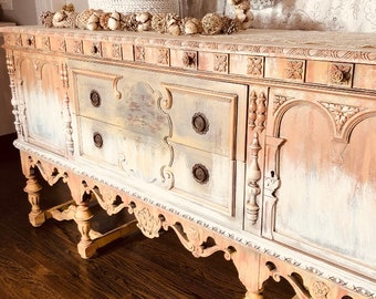 Exceptionnel Painted Buffet | Etsy