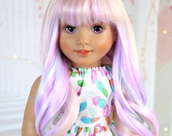 """Custom American Girl doll PREMIUM """"Venice"""" wig - Fits most doll between 10.5 to 11.5 inches circumference head"""