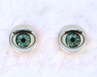 Honey Doll eyes for 18/'/' doll-American girl doll Gotz doll Blinking eyes brown