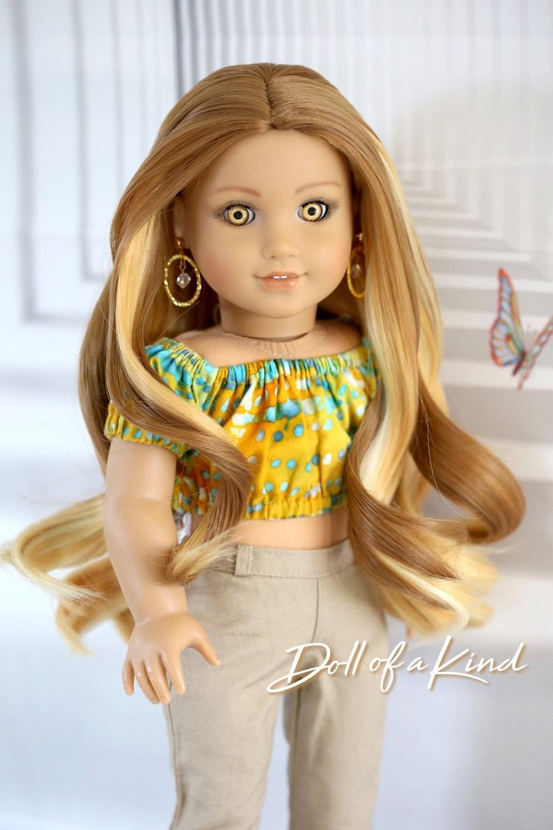 American Girl doll Natural wig Pure Blonde Heat safe Fits Most 18/'/'dolls OG BJD