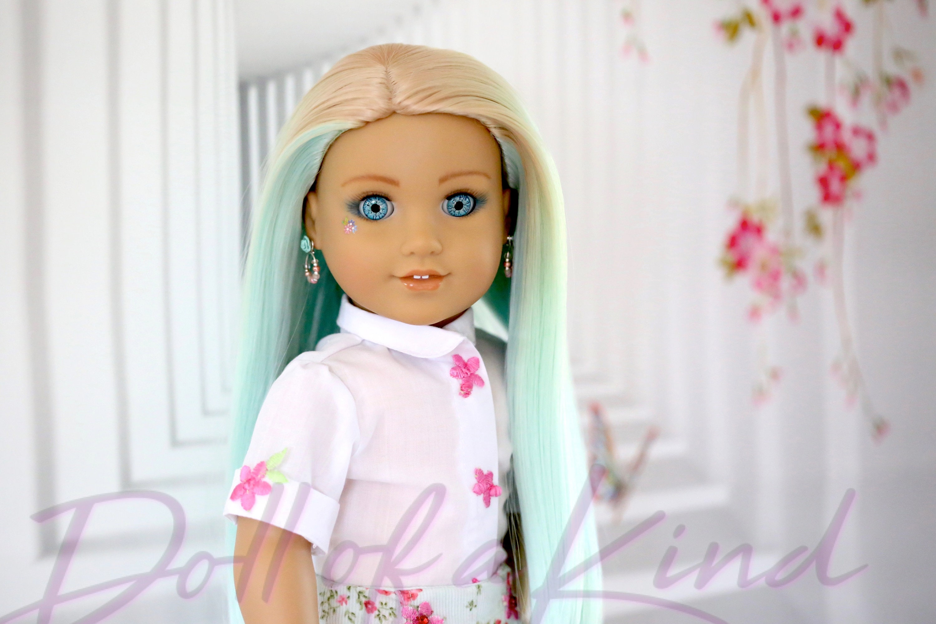 American Girl Doll wig Pale Pink  Fits 18/'/' dolls My life Our Generation