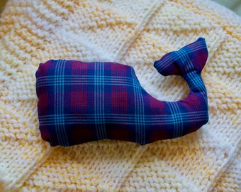Stuffed Plaid Whale