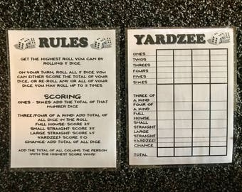 graphic relating to Free Printable Yardzee Rules titled Card sport tips Etsy