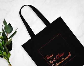 Paris First Class International - Tote Bag in Black or White - Flight Attendant Gifts - Cabin Crew Gifts - Gifts For Her