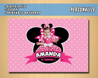 Minnie Mouse Backdrop