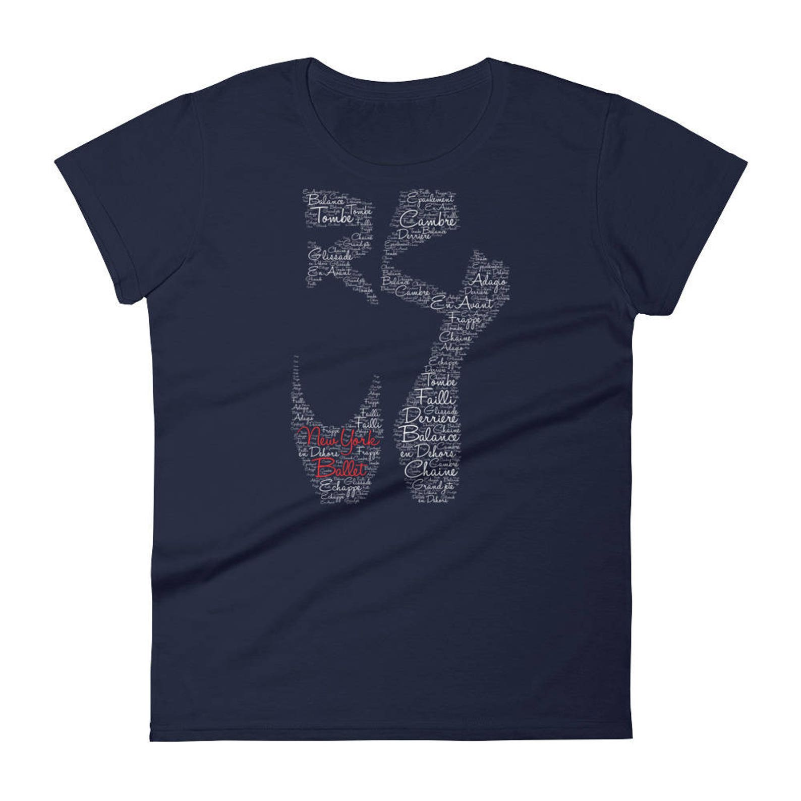 new york ballet pointe shoe - t-shirt women girls