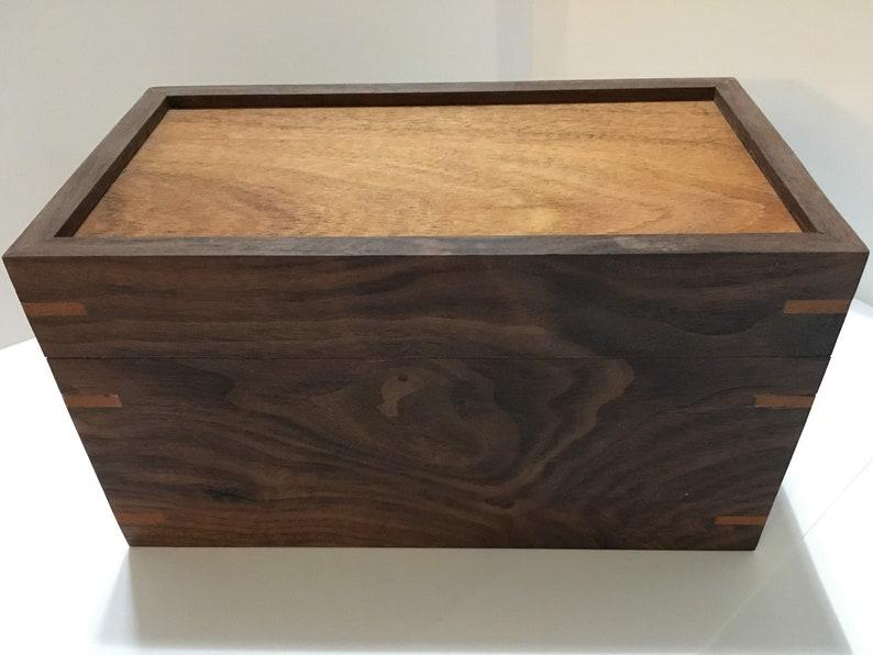 Walnut and Mahogany jewelry box