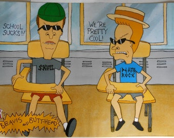 4306f987fa0 BEAVIS AND BUTTHEAD Mike Judge Rare Official 39 X 27 Vintage 1994 Colour  Poster