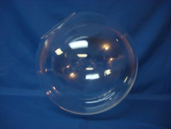 "12/"" Clear Acrylic Plastic Sphere Round Globe 4"" Neck Post Fixture New"