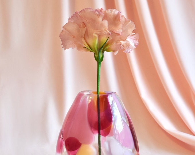 Small Rose Rock Candy Vase #0017