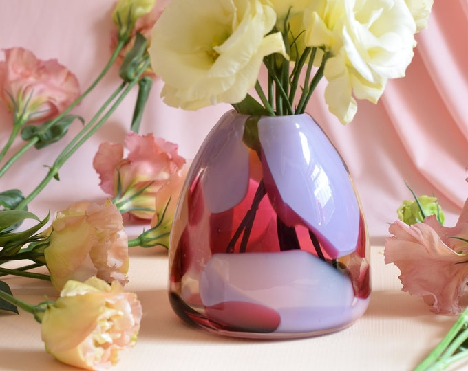 Small Rose Rock Candy Vase #0013