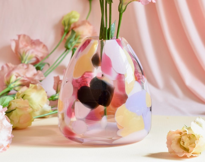 Medium Rose Rock Candy Vase #008
