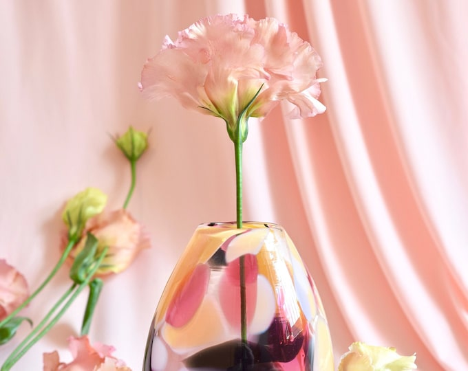 Small Rose Rock Candy Vase #0010