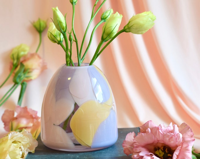 Small Rose Rock Candy Vase #0014