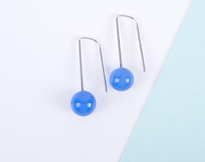 YODAN Powder Blue glass DOT DROPS