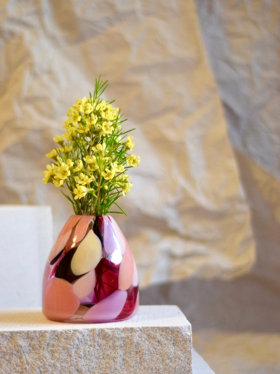 Small Rose Rock Candy Vase #032