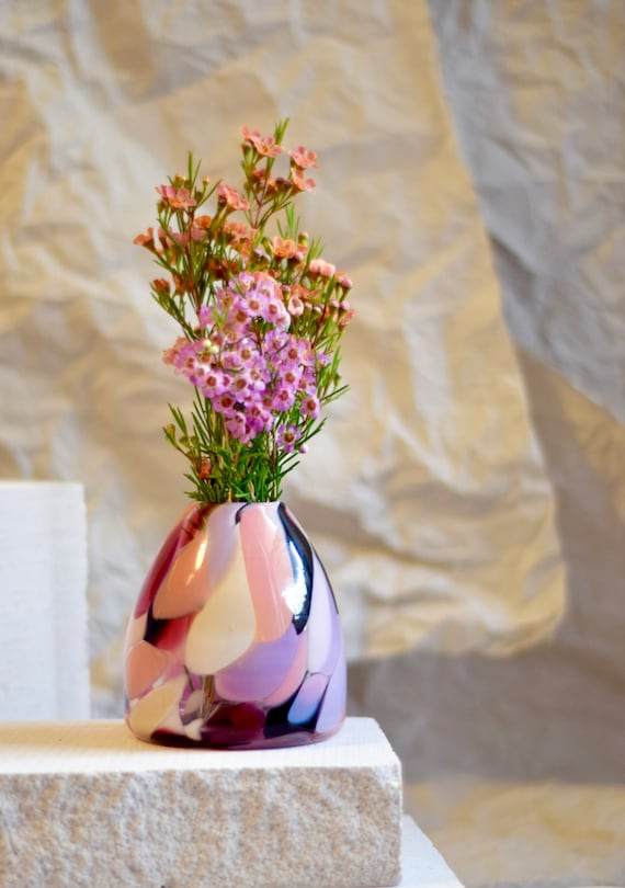 Small Rose Rock Candy Vase #026