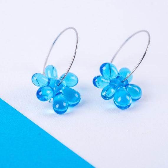 YODAN Cobalt Blue glass JELLY HOOPS