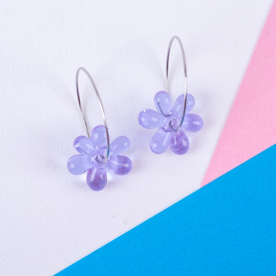 YODAN Lavender glass JELLY HOOPS