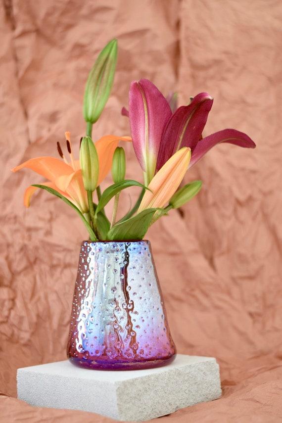 Medium Ruby 'Nailed it' Vase #0032