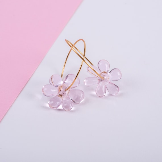 Baby Pink JELLY HOOPS