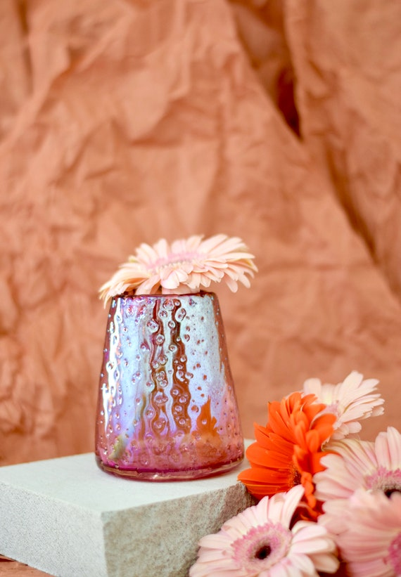 Small Ruby 'Nailed it' Vase #0090
