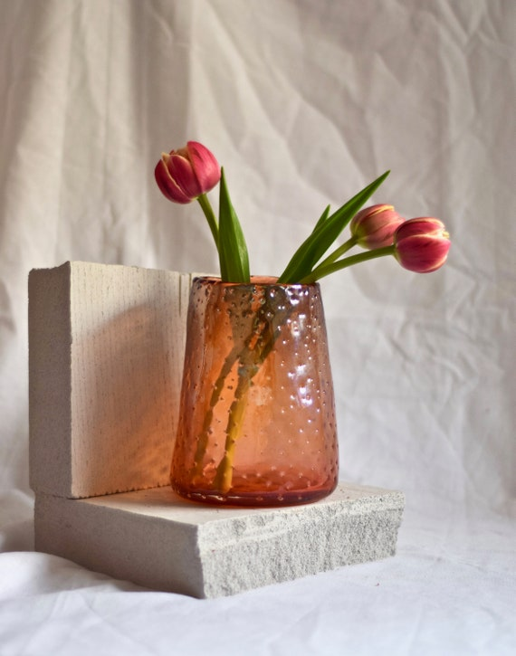 Medium Apricot 'Nailed it' Vase #008