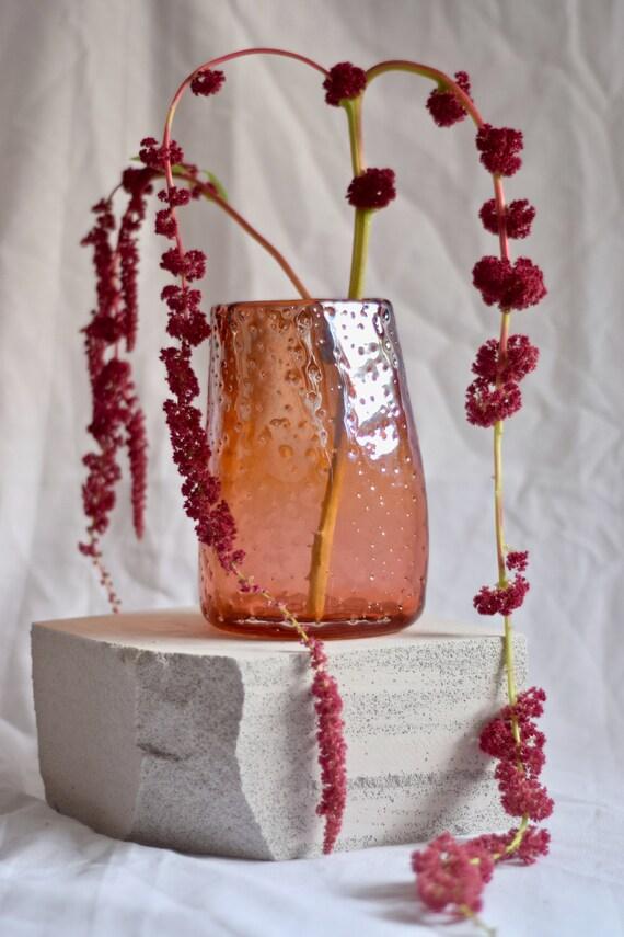 Medium Apricot 'Nailed it' Vase #003