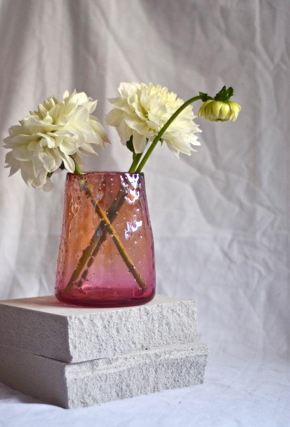 Medium Ruby 'Nailed it' Vase #009