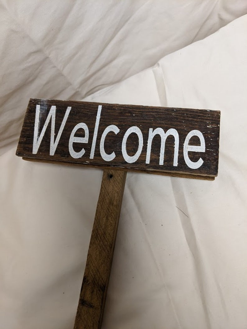 Entryway Welcome Sign Salvage wood Welcome Outdoor Welcome Sign WELCOME SIGN