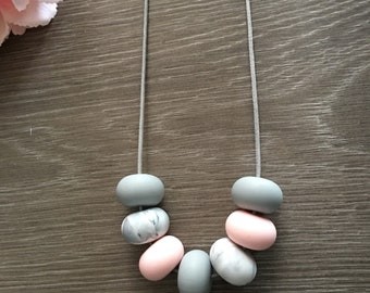Silicone bead necklace. Mummy necklace