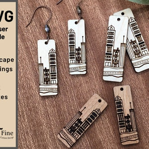 Jewelry Cut Files for GLOWFORGE  CNC  LASER .dxf .svg .eps .jpg .pdf .png Design #176-200 Earrings Necklace Pendant Charm