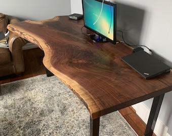 Live Edge Office Walnut Desk