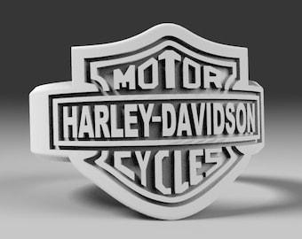 Harley Davidson Ring 3D model Harley Davidson CNC 3D Ring Harley 3D print model Harley