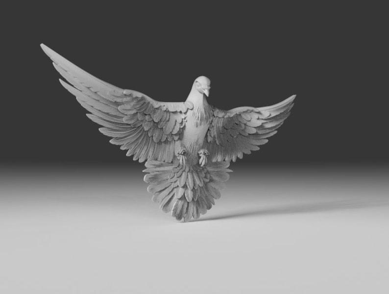 Pigeon 3D model Pigeon CNC 3D print model Pigeon 3D model