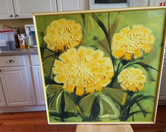 Yellow Flowers Oil Painting