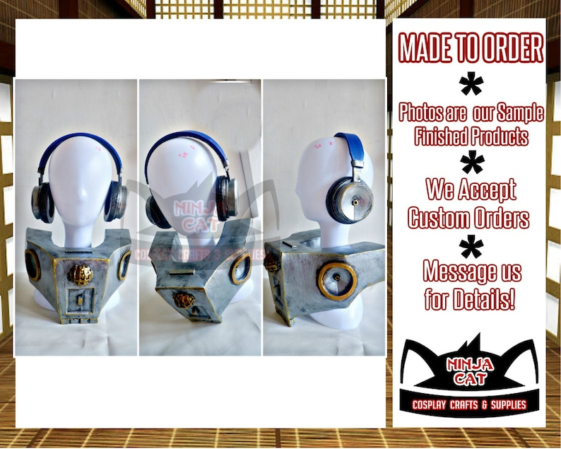 MTO Free Shipping Costume Cosplay Props Accessories Boku No Hero Academia My Hero Academia Present Mic Speaker Headphones BNHA