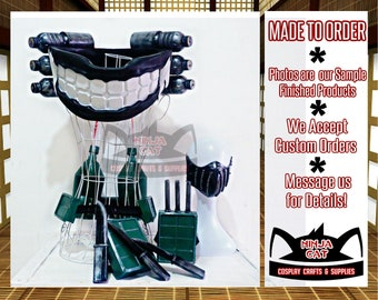 Made To Order - Anime - Boku No Hero Academia - BNHA - Himiko Toga - My Hero Academia - New Version - Props and Weapons Scarf Knife- Cosplay