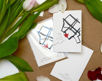 I Want To Kiss You In Your Northern Quarter - Boy / Girl - Valentines Day Card - Manchester | Map | Recycled Greetings Card