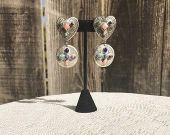 Heart Stone Earrings