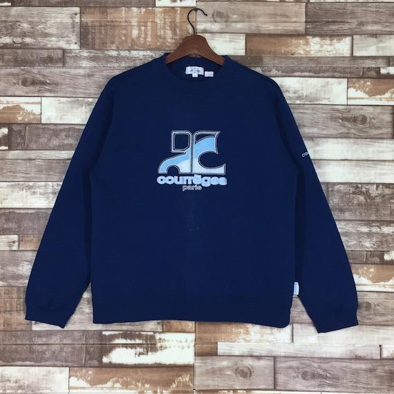 Vintage Courreges Sweatshirt Embroidery Logo