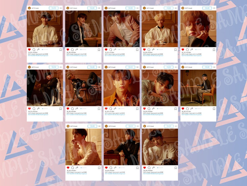 Seventeen You Made My Dawn Transparent Photocards Aesthetic Handmade Photos K-pop Collectable Carat Card korean