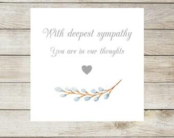 condolence card etsy