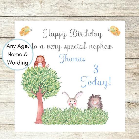 Woodland Birthday Card Personalised Daughter