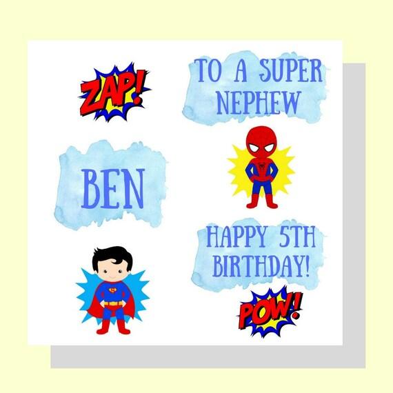 Personalised Superhero Boys Birthday Card